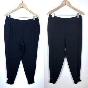 Chicos 1 Medium Black Ankle Cuffed Dress Pants